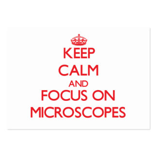 Keep Calm and focus on Microscopes Business Cards