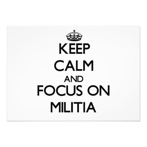 Keep Calm and focus on Militia Custom Announcements