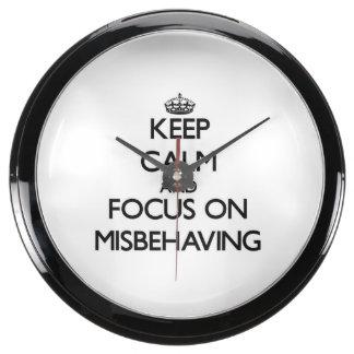 Keep Calm and focus on Misbehaving Aquavista Clock