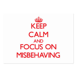 Keep Calm and focus on Misbehaving Business Cards