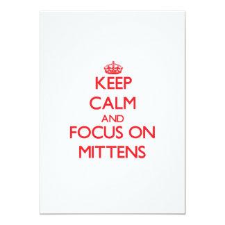 Keep Calm and focus on Mittens 13 Cm X 18 Cm Invitation Card