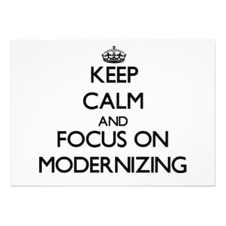 Keep Calm and focus on Modernizing Announcements