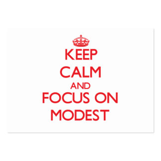 Keep Calm and focus on Modest Business Card Template