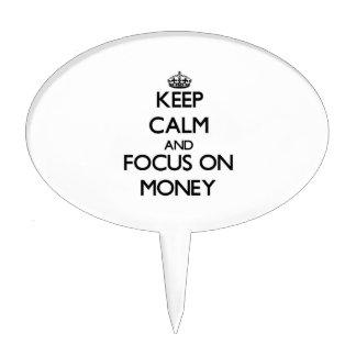 Keep Calm and focus on Money Cake Picks