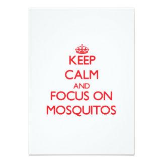 Keep Calm and focus on Mosquitos 13 Cm X 18 Cm Invitation Card