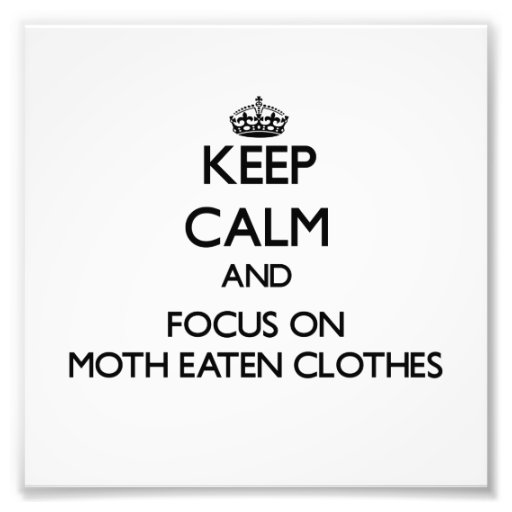 Keep Calm and focus on Moth Eaten Clothes Art Photo