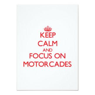 "Keep Calm and focus on Motorcades 5"" X 7"" Invitation Card"