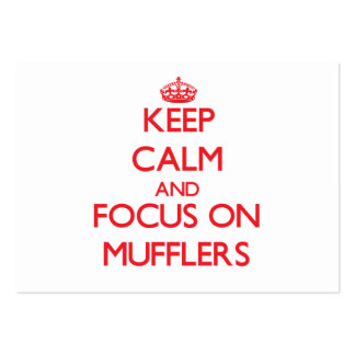 Keep Calm and focus on Mufflers Business Card Template