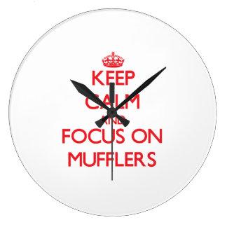 Keep Calm and focus on Mufflers Clocks