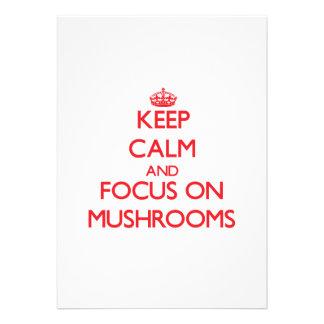 Keep Calm and focus on Mushrooms Invitation
