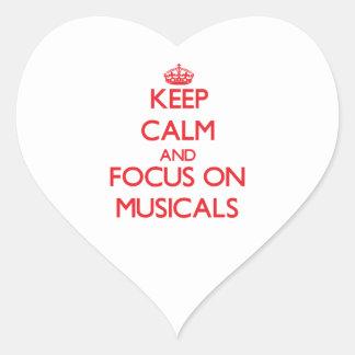 Keep Calm and focus on Musicals Sticker