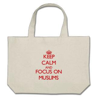 Keep Calm and focus on Muslims Canvas Bag