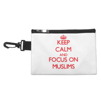 Keep Calm and focus on Muslims Accessory Bags