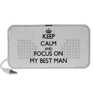 Keep Calm and focus on My Best Man Notebook Speaker