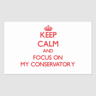 Keep Calm and focus on My Conservatory Rectangle Sticker