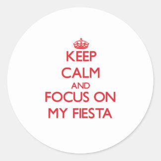 Keep Calm and focus on My Fiesta Sticker