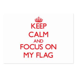 Keep Calm and focus on My Flag Business Card