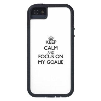 Keep Calm and focus on My Goalie iPhone 5 Case