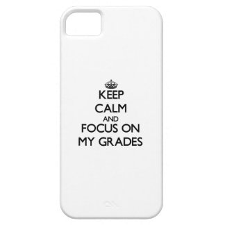 Keep Calm and focus on My Grades iPhone 5 Cover