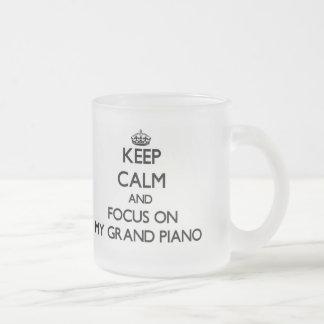 Keep Calm and focus on My Grand Piano Coffee Mugs