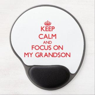Keep Calm and focus on My Grandson Gel Mousepad