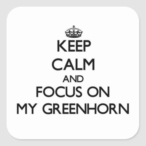 Keep Calm and focus on My Greenhorn Square Sticker