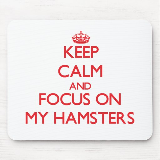 Keep Calm and focus on My Hamsters Mousepad