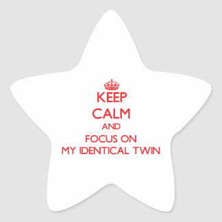 Keep Calm and focus on My Identical Twin Star Stickers