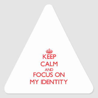 Keep Calm and focus on My Identity Triangle Stickers
