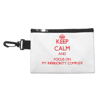 Keep Calm and focus on My Inferiority Complex Accessories Bag