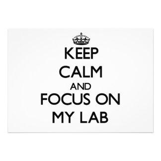 Keep Calm and focus on My Lab Invitations