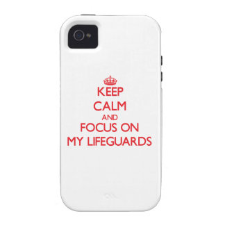 Keep Calm and focus on My Lifeguards iPhone 4/4S Case