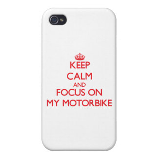Keep Calm and focus on My Motorbike iPhone 4 Case