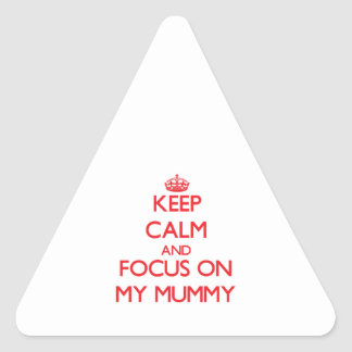 Keep Calm and focus on My Mummy Stickers