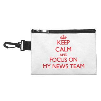 Keep Calm and focus on My News Team Accessory Bags