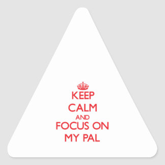 Keep Calm and focus on My Pal Triangle Stickers