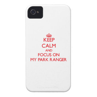 Keep Calm and focus on My Park Ranger iPhone 4 Covers
