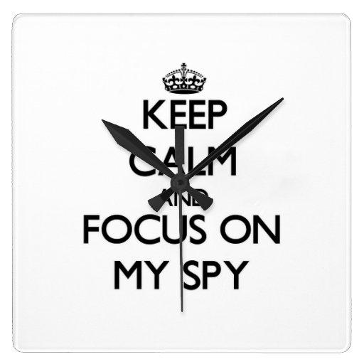 Keep Calm and focus on My Spy Wall Clocks