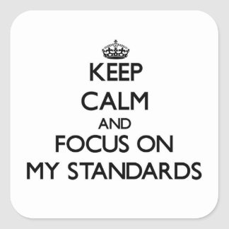 Keep Calm and focus on My Standards Square Sticker