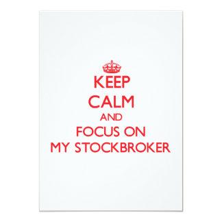 Keep Calm and focus on My Stockbroker Custom Invites