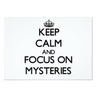 Keep Calm and focus on Mysteries Card