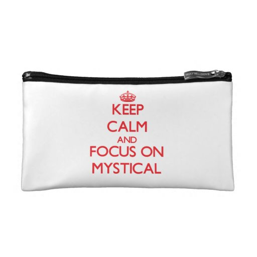 Keep Calm and focus on Mystical Cosmetics Bags