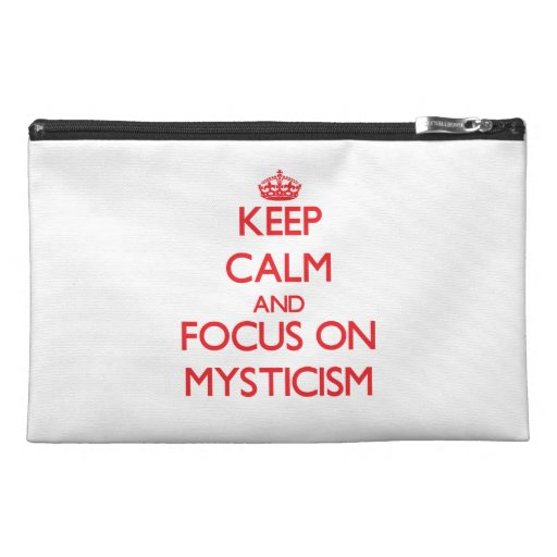 Keep Calm and focus on Mysticism Travel Accessories Bag
