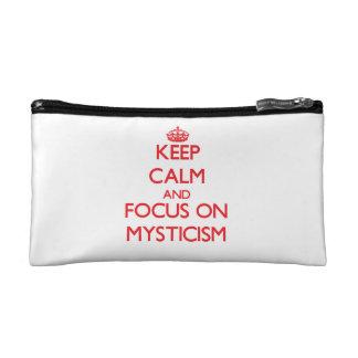 Keep Calm and focus on Mysticism Makeup Bags