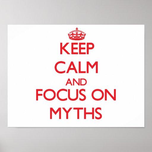 Keep Calm and focus on Myths Print