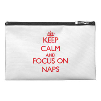Keep Calm and focus on Naps Travel Accessories Bag