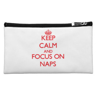 Keep Calm and focus on Naps Cosmetic Bag