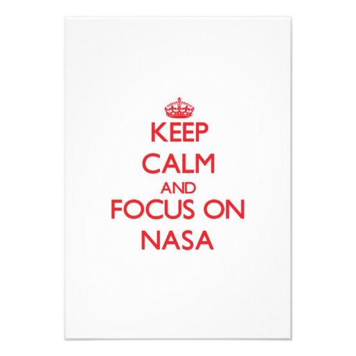 Keep Calm and focus on Nasa Custom Announcement