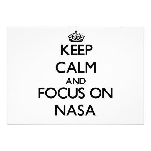 Keep Calm and focus on Nasa Custom Invites