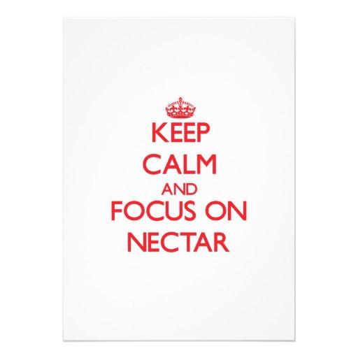 Keep Calm and focus on Nectar Custom Invites